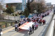 EĞİTİM-İŞ BİNLERCE ÜYESİ İLE ANITKABİR'E YÜRÜDÜ