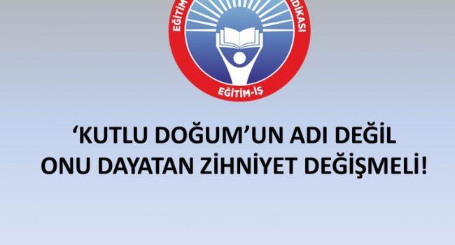'KUTLU DOĞUM'UN ADI DEĞİL, ONU DAYATAN ZİHNİYET DEĞİŞMELİ!